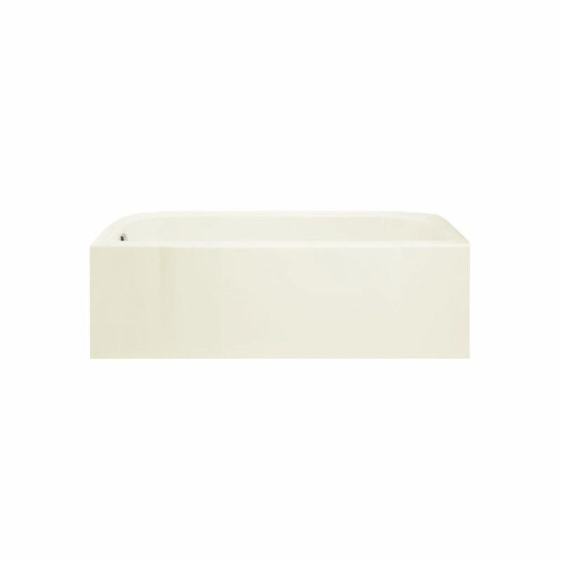 Sterling® 71141122-0 Bathtub, Accord®, Soaking Hydrotherapy, Rectangular, 60 in L x 30 in W, Right Drain, White