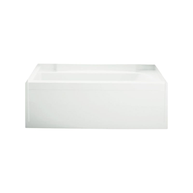 Sterling® 71151110-0 Bathtub, Accord®, Soaking Hydrotherapy, Rectangular, 60 in L x 32 in W, Left Drain, White