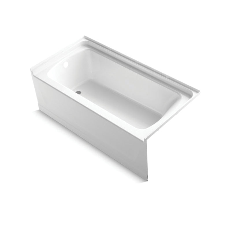 Sterling® 71171112-0 Bathtub, Ensemble™, 60 in L x 30 in W, Left Drain, White
