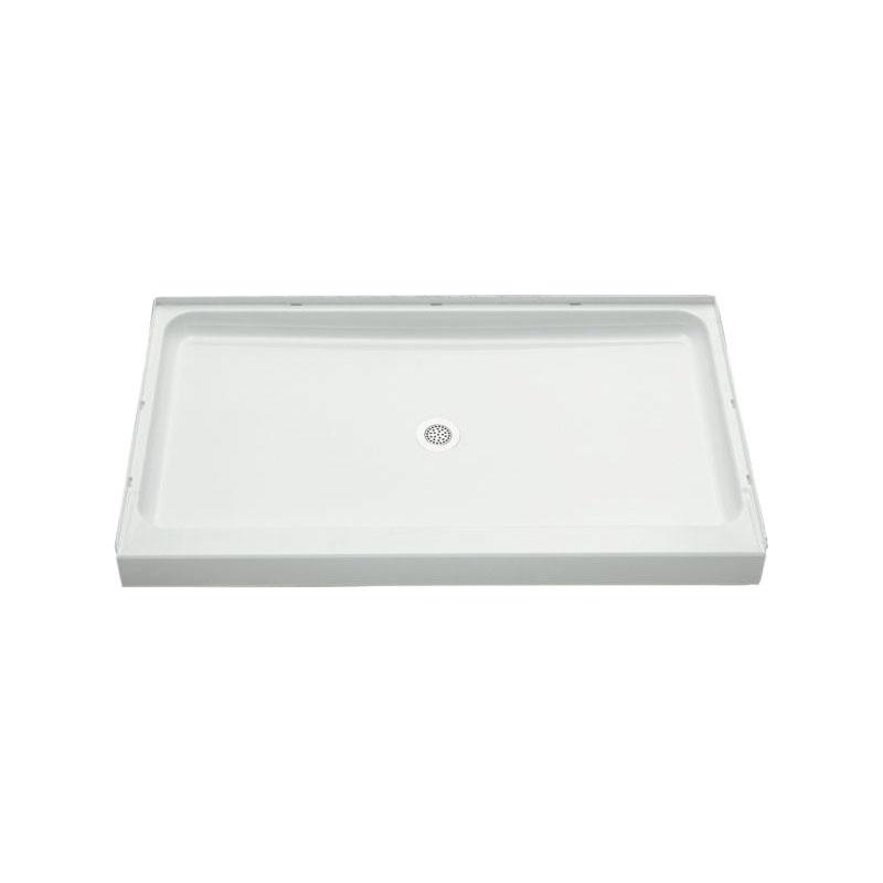 Sterling® 72131100-0 Shower Receptor, Ensemble™, White, Center Drain, 60 in L x 34 in W x 4-1/2 in D