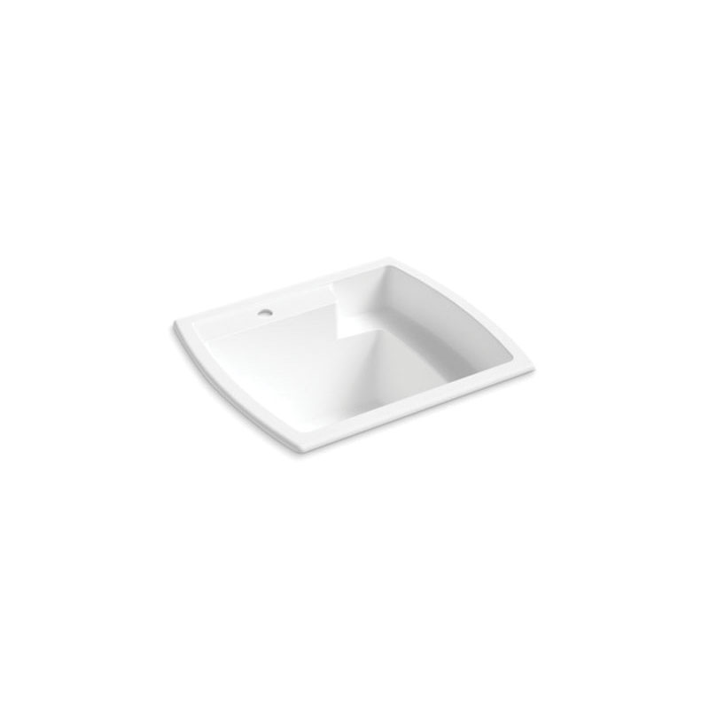Sterling® 995-0 Utility Sink, Latitude®, Rectangular, 25 in W x 22 in D x 13 in H, Top Mount, Solid Vikrell®, White