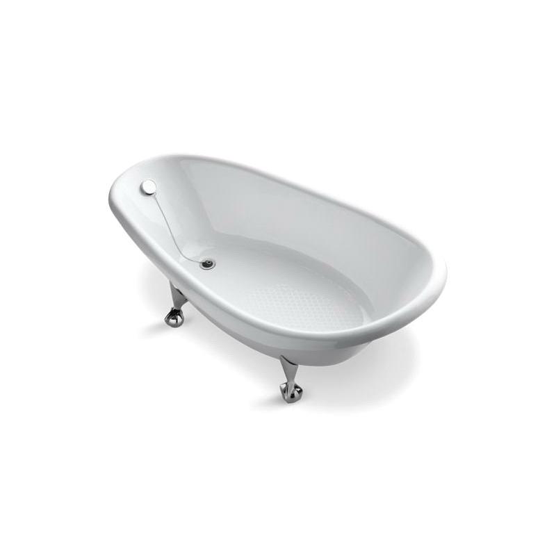 Kohler® 100-0 Bathtub, Birthday Bath®, Rectangular, 72 in L x 37-1/2 in W, End Drain, White