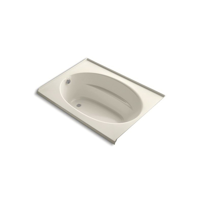 Kohler® 1113-L-47 Bathtub With Integral Flange, Windward®, Soaking Hydrotherapy, Oval, 60 in L x 42 in W, Left Drain, Almond