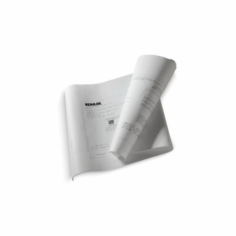 Kohler® 136-NA Under-Mount Install Kit, For Use With Reve® K-817 32 in Baths and BubbleMassage™ Air Baths, Domestic