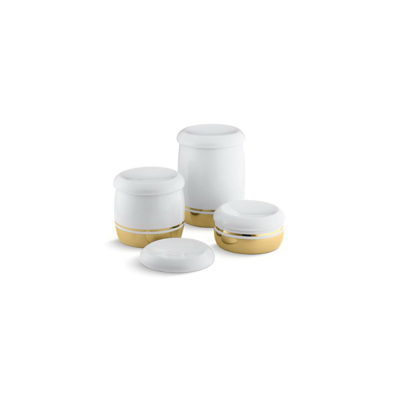 Kohler® 14181-PD-0 Covered Countertop Container Accessories, Laureate™, Ceramic