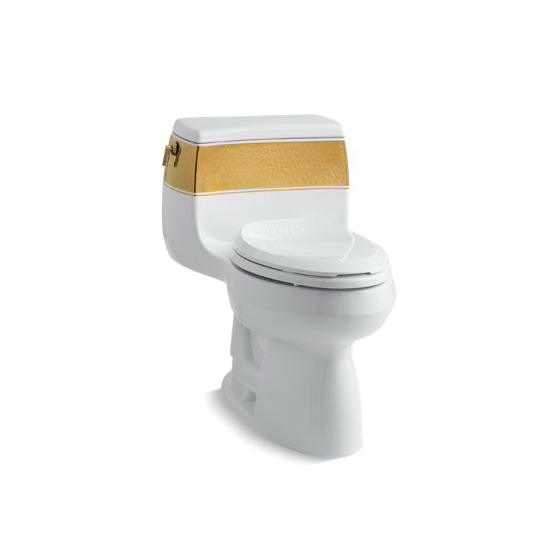 Kohler® 14346-PD-0 Laureate™ On Gabrielle™ Comfort Height® 1-Piece Toilet, Elongated Front Bowl, 16-1/4 in H Rim, 12 in Rough-In, 1.28 gpf Flush Rate, White