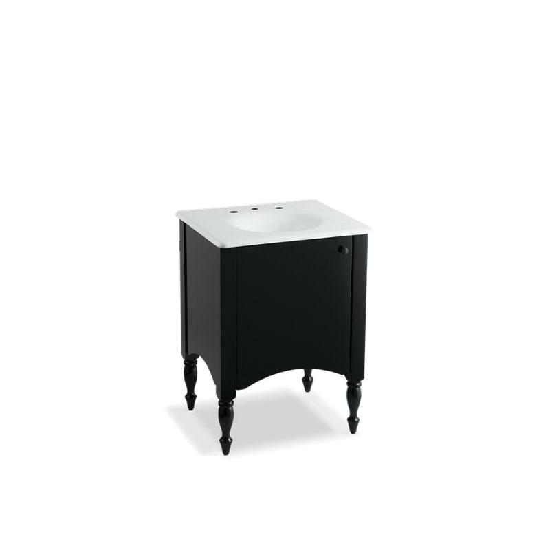 Kohler® 2412-F40 Bathroom Vanity Cabinet, Alberry®, 33-1/2 in OAH x 24 in OAW x 21-1/2 in OAD, Freestanding Mount, Cinder Cabinet