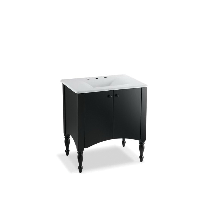 Kohler® 2463-F40 Bathroom Vanity Cabinet, Alberry®, 33-1/2 in OAH x 30 in OAW x 21-1/2 in OAD, Freestanding Mount, Cinder Cabinet