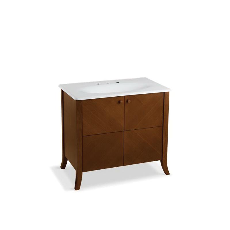 Kohler® 2491-F39 Bathroom Vanity Cabinet, Clermont®, 33-1/2 in OAH x 38 in OAW x 21-1/2 in OAD, Freestanding Mount, Oxford Cabinet