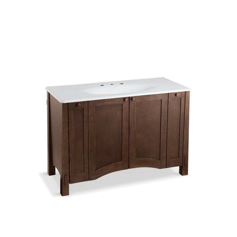 Kohler® 2495-F41 Bathroom Vanity Cabinet, Westmore®, 33-1/2 in OAH x 49-1/2 in OAW x 21-1/2 in OAD, Freestanding Mount, Westwood Cabinet