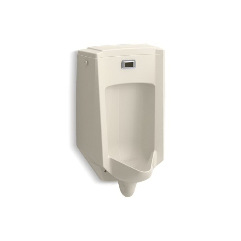 Kohler® 2590-47 Touchless Washdown Urinal, Bardon™, 0.5 gpf, Rear Spud, Wall Mount, Almond