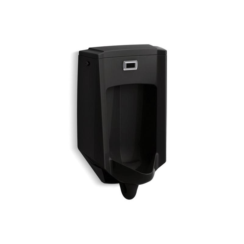 Kohler® 2590-7 Touchless Washdown Urinal, Bardon™, 0.5 gpf, Rear Spud, Wall Mount, Black