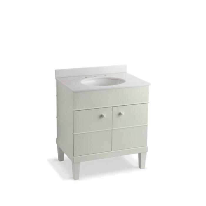 Kohler® 2732-F44 3-Piece Bathroom Vanity Cabinet, Evandale®, 36-1/2 in OAH x 30 in OAW x 21 in OAD, Freestanding Mount