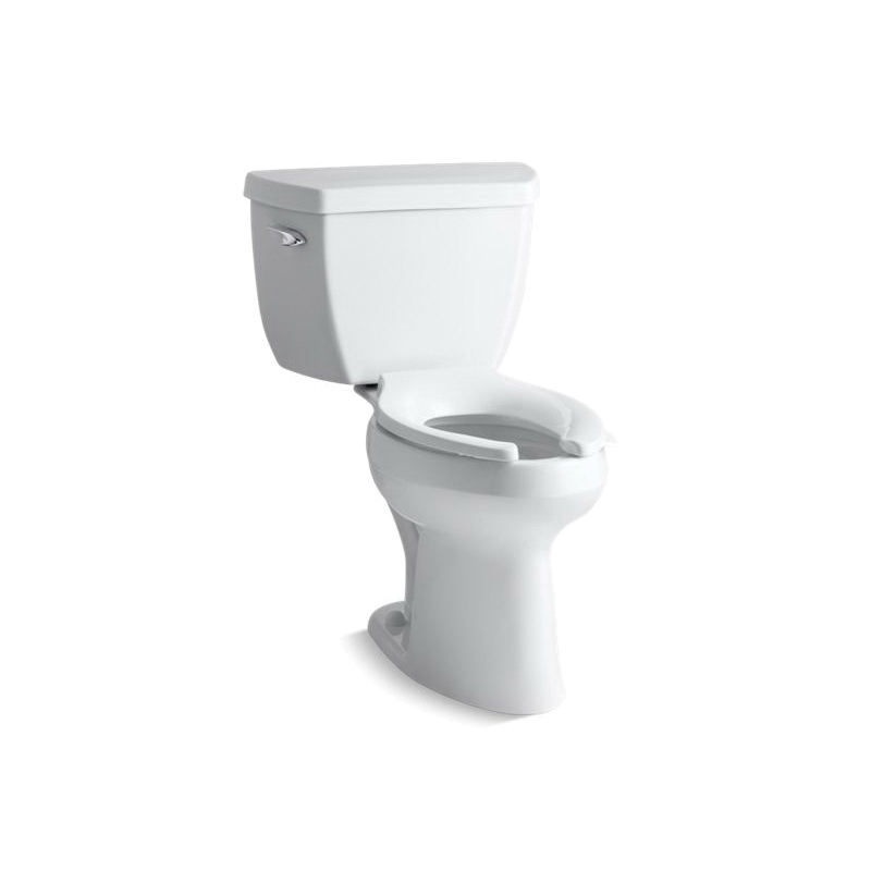 Kohler® 3519-0 Highline® Classic Comfort Height® 2-Piece Toilet, Elongated Front Bowl, 17-1/8 in H Rim, 12 in Rough-In, 1 gpf Flush Rate, White