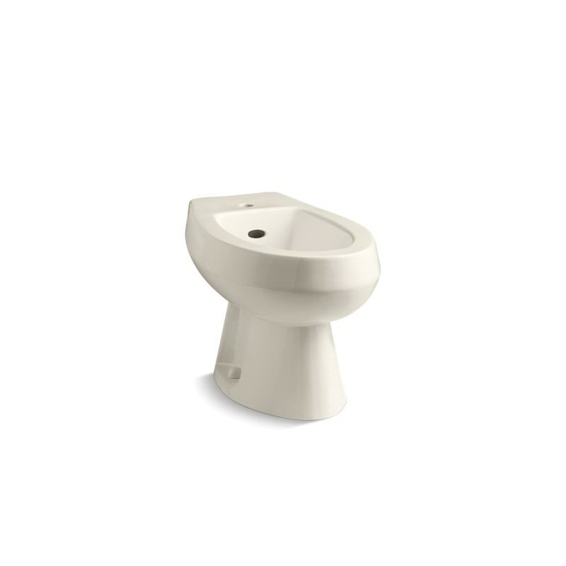 Kohler® 4876-47 Amaretto® Bidet Toilet, Elongated Bowl, 15 in H Rim, 14.63 in Rough-In, Almond