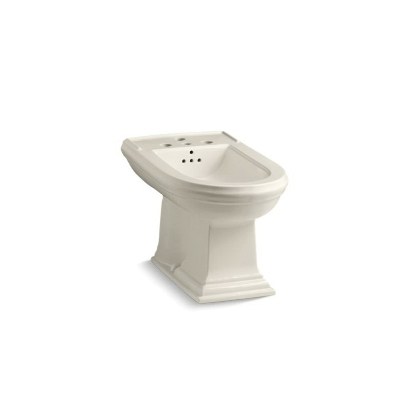 Kohler® 4886-47 Memoirs® Bidet Toilet, Elongated Bowl, 15 in H Rim, 15 in Rough-In, Almond