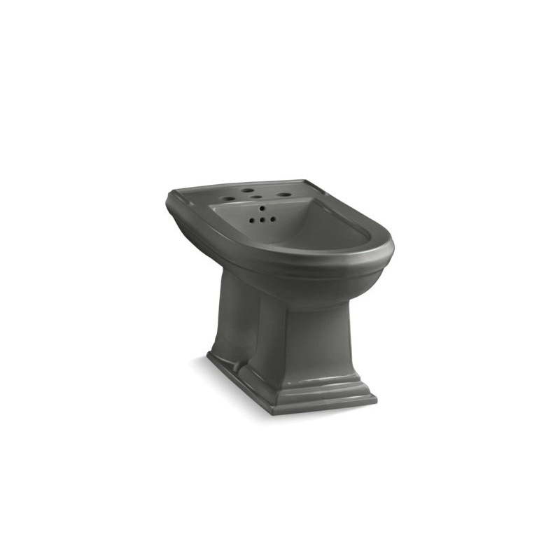 Kohler® 4886-58 Memoirs® Bidet Toilet, Elongated Bowl, 15 in H Rim, 15 in Rough-In, Thunder™ Gray