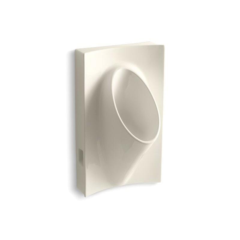 Kohler® 4919-47 Type L Waterless Urinal, Steward®, Rear Spud, Wall Mount, Vitreous China, Almond