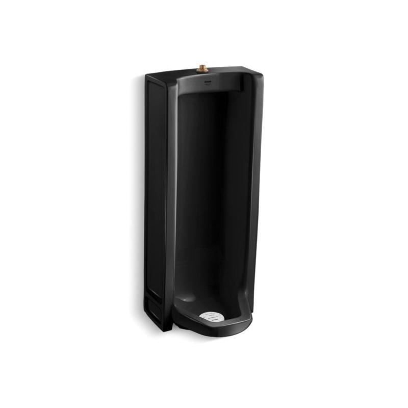 Kohler® 4920-T-7 Washdown Urinal, Brenham™, 0.5/1 gpf, Top Spud, Floor Mount, Black