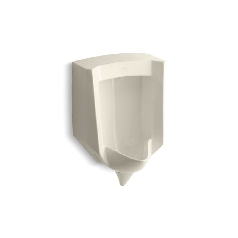 Kohler® 4972-ER-47 Blow-out Urinal, Stanwell™, 1 gpf, Rear Spud, Wall Mount, Almond