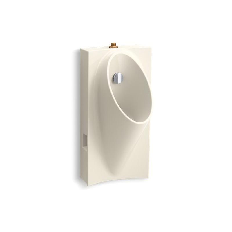 Kohler® 5244-ET-47 High Efficiency Hybrid Urinal, Steward®, 0.125/1 gpf, Top Spud, Wall Mount, Almond
