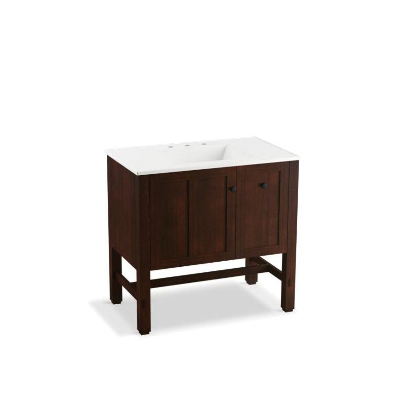 Kohler® 5288-F69 Vanity, Tresham®, 34-1/2 in OAH x 36 in OAW x 22 in OAD, Freestanding Mount, Woodland Cabinet