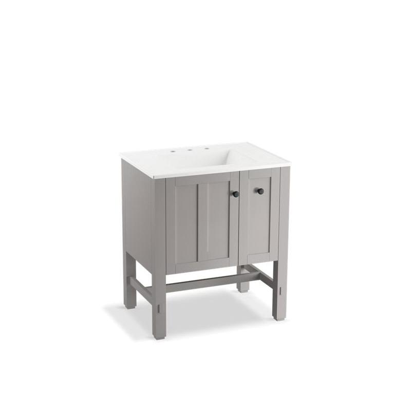 Kohler® 5289-1WT Vanity, Tresham®, 34-1/2 in OAH x 30 in OAW x 22 in OAD, Freestanding Mount, Mohair Gray Cabinet