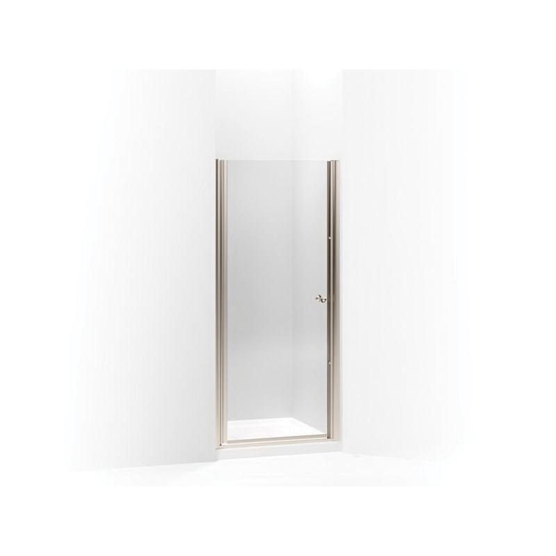 Kohler® 702402-L-ABV Pivot Shower Door, Tempered Glass, Frameless Frame, Anodized Brushed Bronze, 30 to 31-1/2 in W Opening, 1/4 in THK Glass