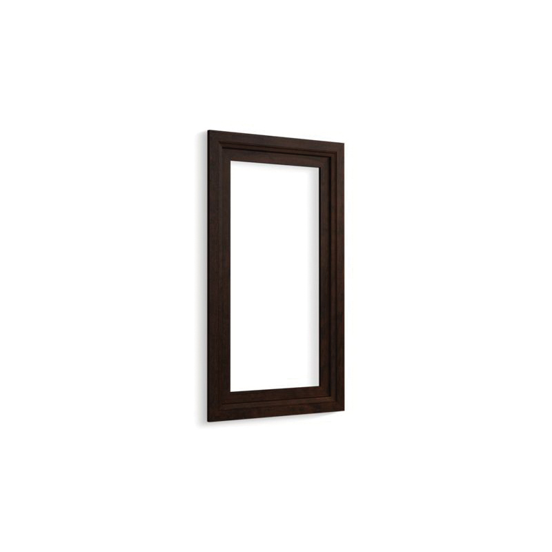 Kohler® 99662-15-1WB Medicine Cabinet Surround, Damask®, For Use With Verdera® K-99000-NA and K-99001-NA Medicine Cabinets, Solid Wood/Veneer, Claret Suede
