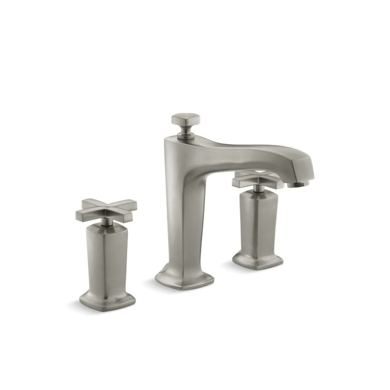 Kohler® T16236-3-BN Bath Tub Faucet Trim, Margaux®, 12 gpm, Vibrant® Brushed Nickel, 2 Handles, Function: Traditional