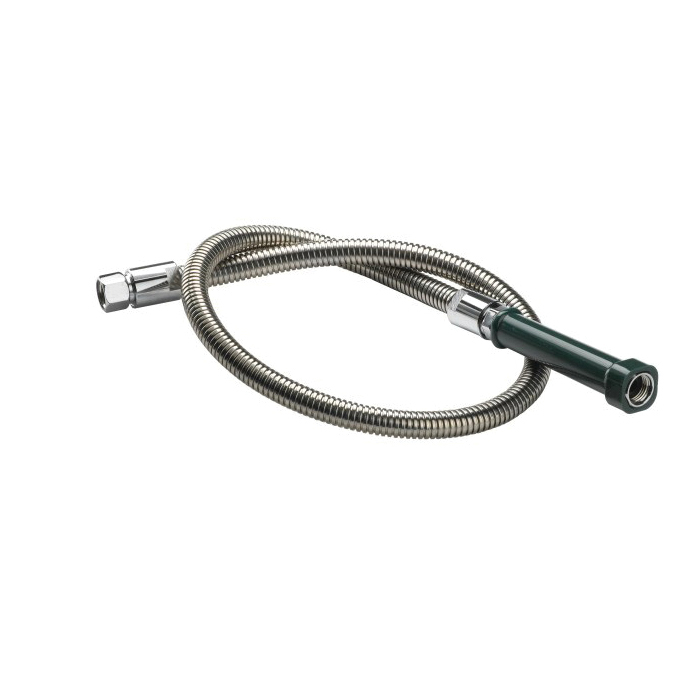 Krowne® 21-133L Spray Hose With Grip, For Use With Pre-Rinse Faucet, 44 in Stainless Steel Spray Hose, Import
