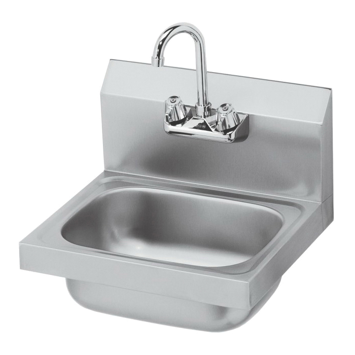 Krowne® HS-2L Hand Sink, 16 in W x 15 in D x 14 in H, Wall Mount, Stainless Steel