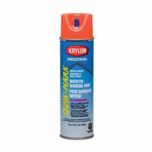 Krylon® Quik-Mark™ A03406004 Water Based Inverted Marking Paint, 16 oz Container, Liquid Form, APWA Brilliant Blue, 234 to 468 ft Coverage, >10 min Curing