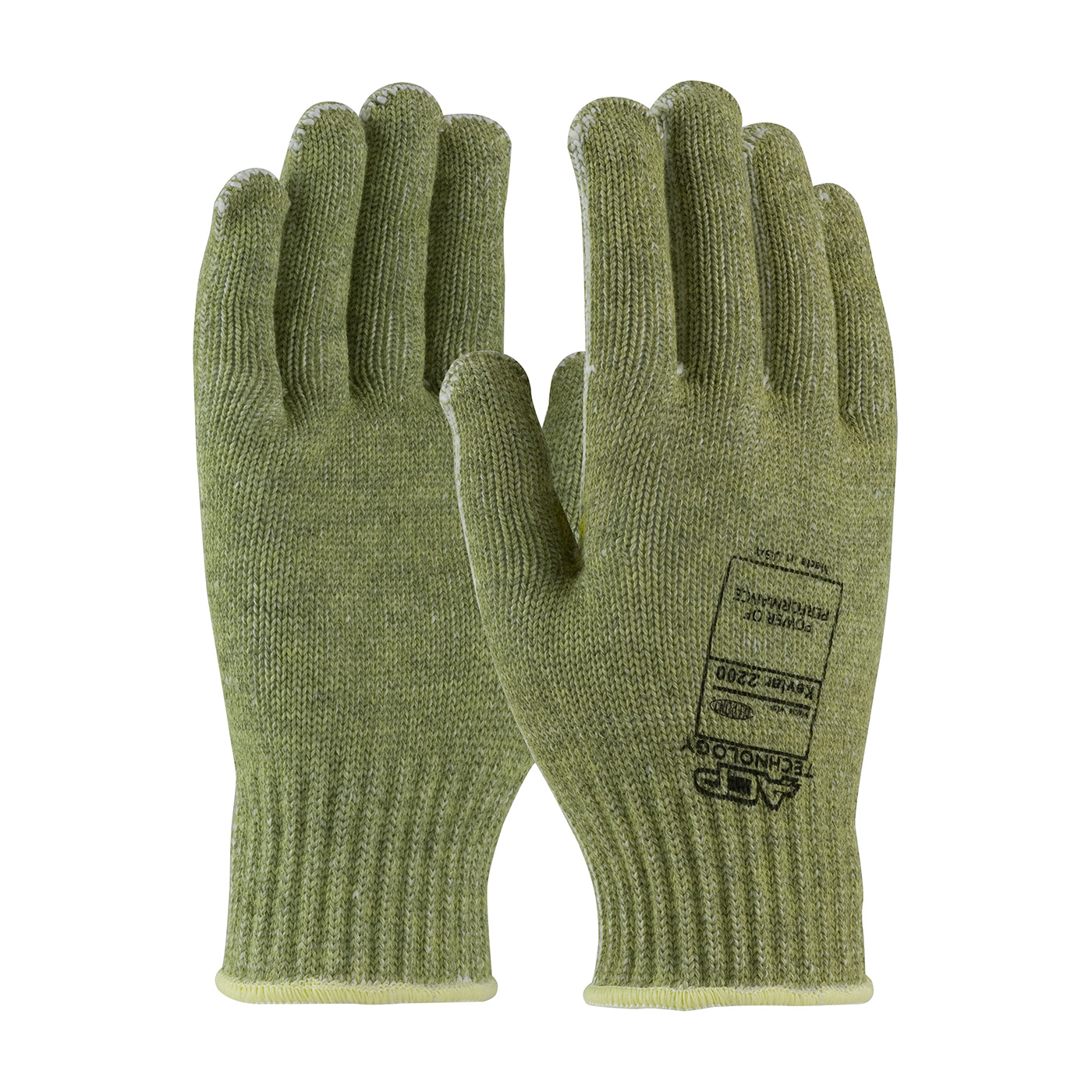 PIP® Kut-Gard® 07-KA744/L Economy Weight Cut Resistant Gloves, L, ACP/Kevlar®, Elastic/Knit Wrist Cuff, Resists: Abrasion, Cut and Heat, ANSI Cut-Resistance Level: A3