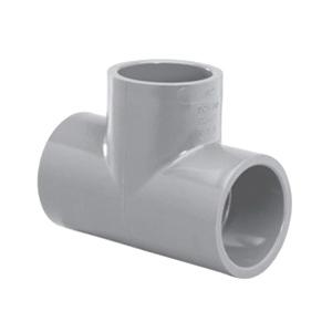 Lasco® 9801-015 Tee, 1-1/2 in, Slip, SCH 80/XH, CPVC, FKM O-Ring Seal, Domestic