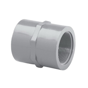 Lasco® 9835-007 Adapter, 3/4 in, FNPT x Slip, SCH 80/XH, CPVC, FKM O-Ring Seal, Domestic