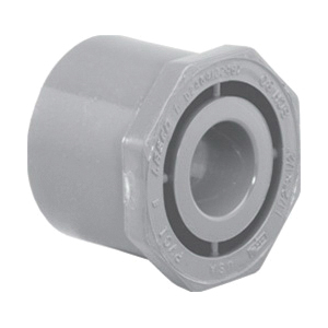 Lasco® 9837-251 Flush Reducing Bushing, 2 x 1-1/2 in, Spigot x Slip, SCH 80/XH, CPVC, FKM O-Ring Seal, Domestic