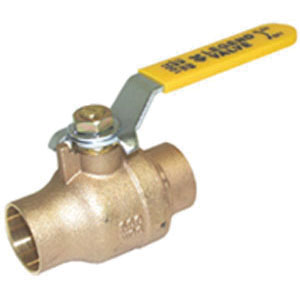 LEGEND 101-084NL S-1002NL Ball Valve With Handle, 3/4 in Nominal, C End Style, Forged Brass Body, Full Port, Import