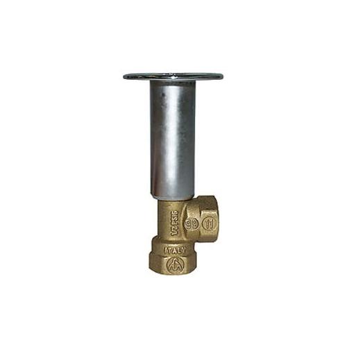 LEGEND 102-813 T-3201 Multi-Turn Angle Pattern Globe-Type Log Lighter Valve, 1/2 in, FNPT, 100 psi, Brass Body, Import