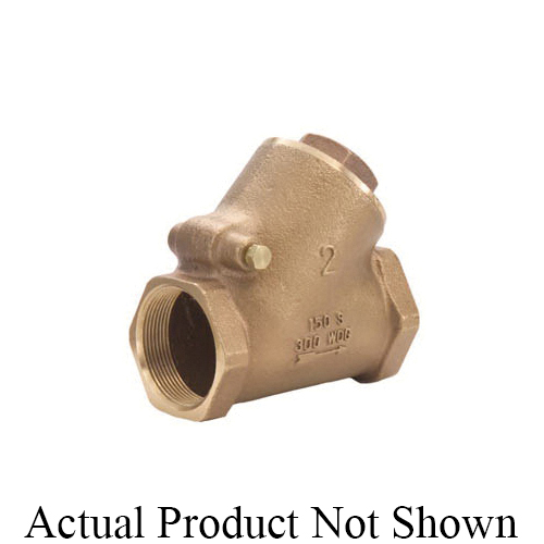 LEGEND 105-304NL T-453NL Y-Pattern Swing Check Valve, 3/4 in Nominal, FNPT End Style, Low Lead Compliance: Yes, 6.6 gpm Flow Rate, Bronze Body, Import