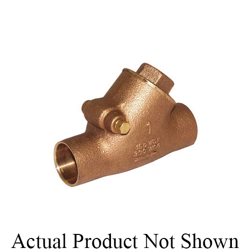LEGEND 105-404NL S-453NL Y-Pattern Swing Check Valve, 3/4 in Nominal, C End Style, Low Lead Compliance: Yes, 6.6 gpm Flow Rate, Bronze Body, Import