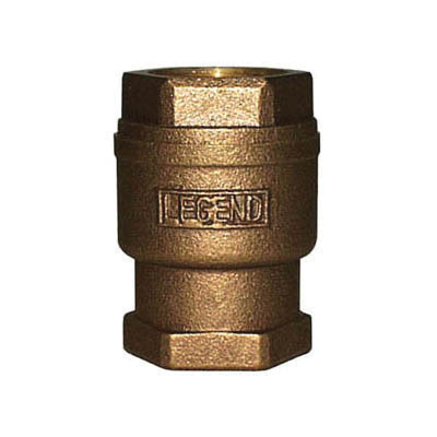 LEGEND LEGEND GREEN™ 105-444NL T-455NL In-Line Check Valve, 3/4 in Nominal, FNPT End Style, Low Lead Compliance: Yes, Bronze Body, Import
