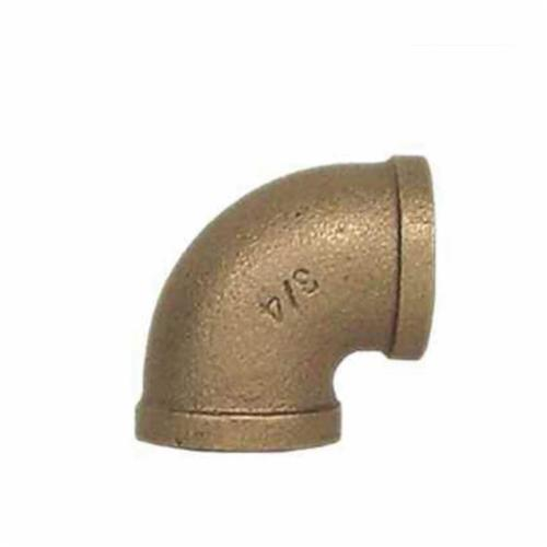 LEGEND 310-004NL Pipe 90 deg Elbow, 3/4 in, FNPT, 125 lb, Bronze, Import