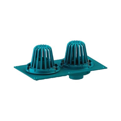 Tech Specialties™ Frank Pattern™ 850-3N Combination Roof and Overflow Drain, 3 in Outlet, No Hub Connection, Cast Iron Drain