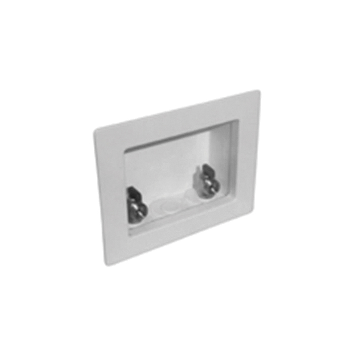 Specialty Products™ Switch Hitter® OB-103 Unassembled Washing Machine Outlet Box With MNPT Valves, Plastic, White