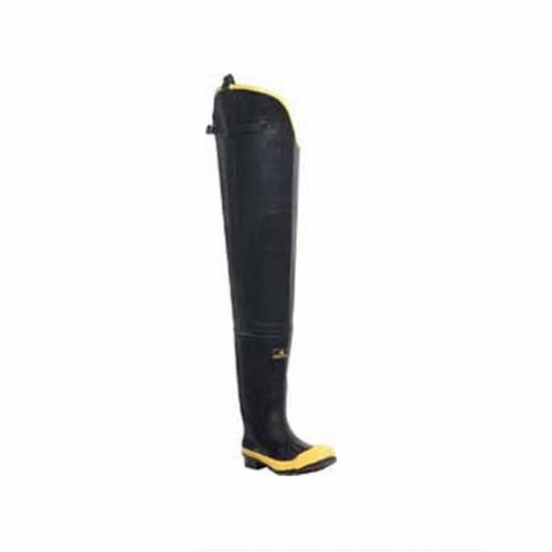 LaCrosse® META PAC 00228050-13 Uninsulated Waterproof Knee Boots, Men's, SZ 13, 16 in H, Steel Toe, Rubber Upper, Vibram® 132 Montagna Outsole, Resists: Abrasion and Ozone, Specifications Met: ASTM F2413-11 M I/75 C/75 MT/75 EH
