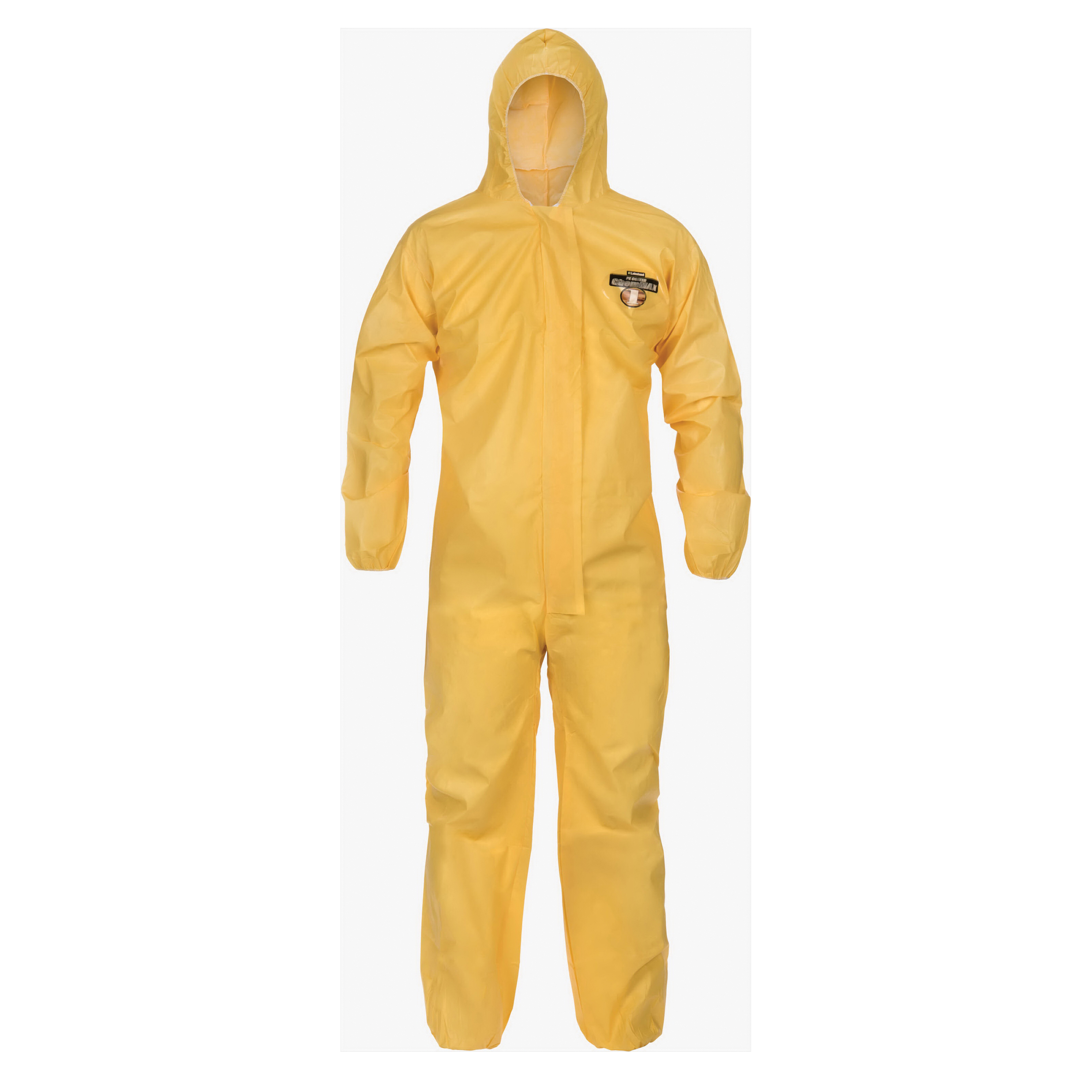 Lakeland® C1S417Y-MD Protective Coverall With Collar, M, Yellow, ChemMax® 1 (Polyethylene Barrier Film/Non-Woven Filament), 40 to 42 in Chest, 29 in L Inseam