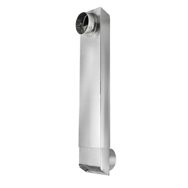 Lambro TiteFit 3006 Rectangular Dryer Duct, 6 in L x 2 in W, 26 ga Aluminum, Domestic