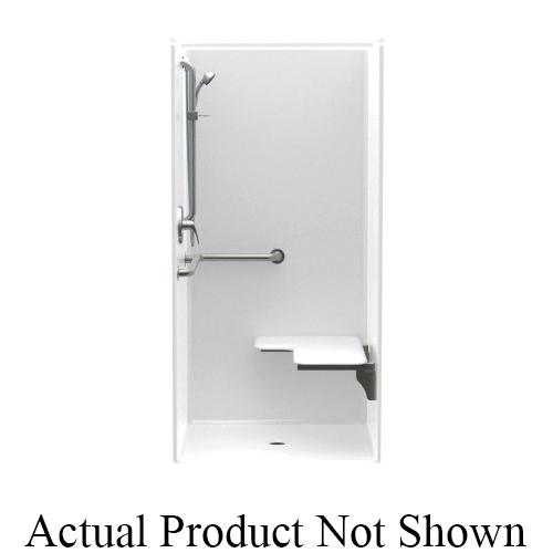 Aquatic 1363BFSC Accessible Freedomline 1-Piece Transfer Shower, 36 in W x 75 in H, AcrylX™ Acrylic