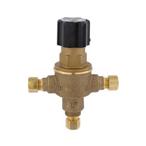 LEONARD® ECO-MIX™ 170-LF Thermostatic Mixing Valve, 3/8 in Nominal, Compression End Style, 125 psi Pressure, 0.25 gpm Flow, Bronze Body